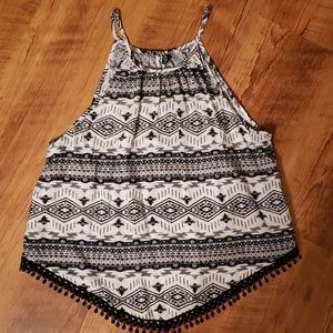 H&M bandana style tribal print tank top. Size 12